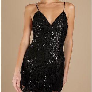Tobi Dresses - Black Sequin Bodycon Dress